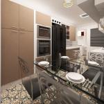 Cozinha em modelagem 3d