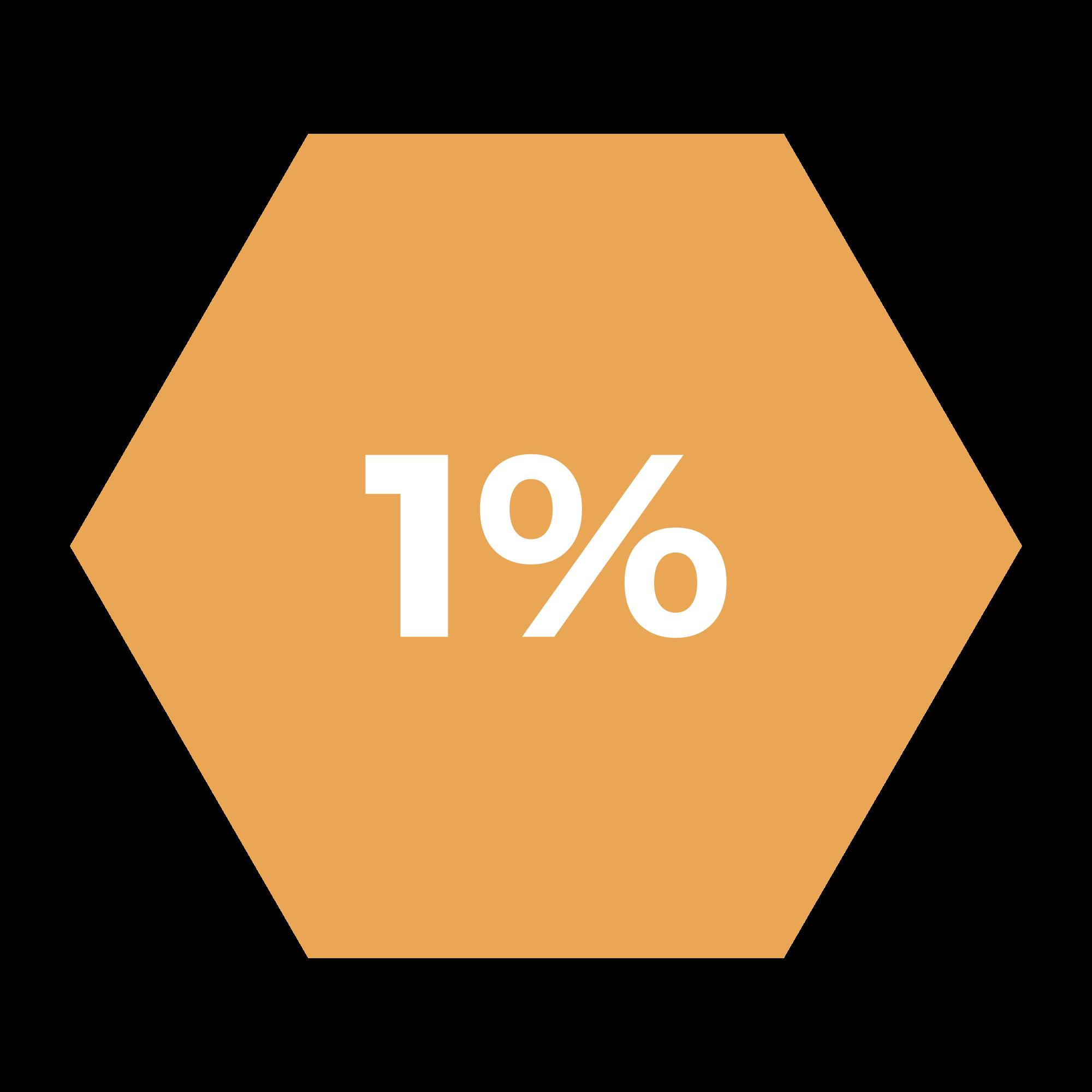 1% hexagono