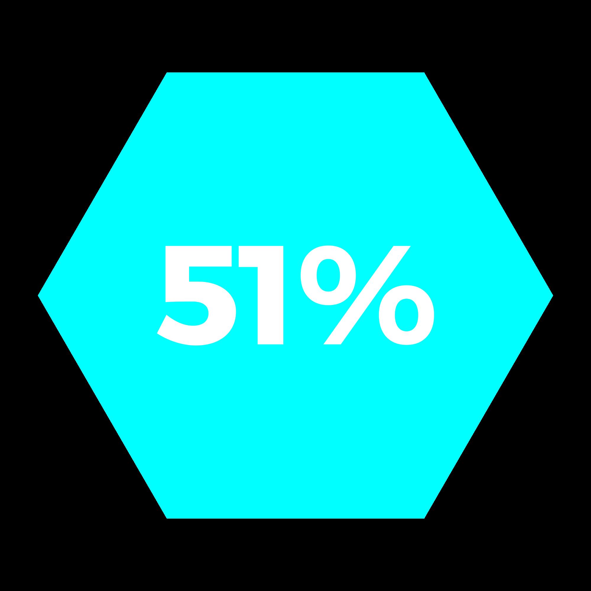 51% hexagono