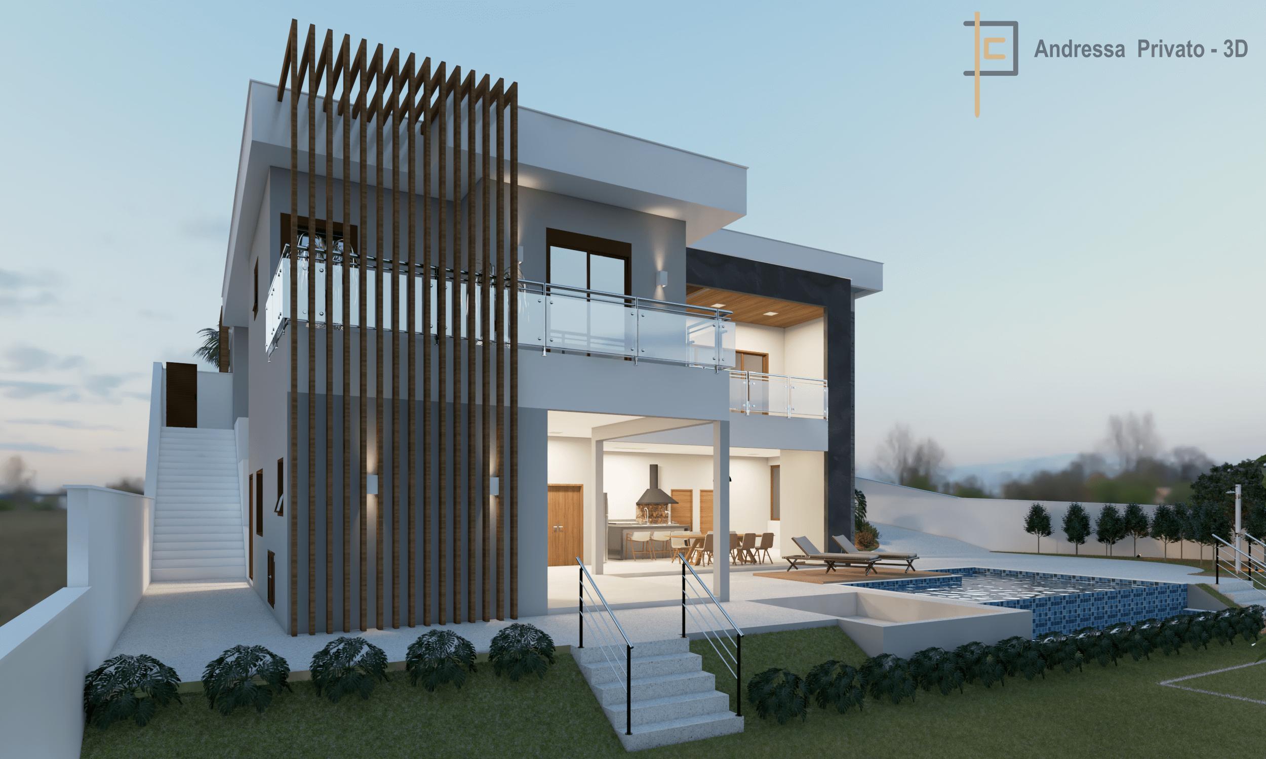 Casa projeto 3D