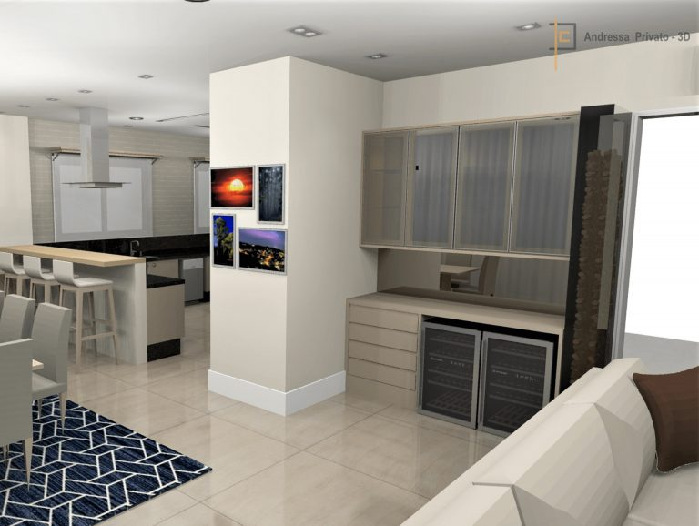 Foto 3d cozinha